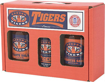 Auburn Tigers Tailgate Party Pack - Hot Sauce, Salsa, and BBQ Sauce