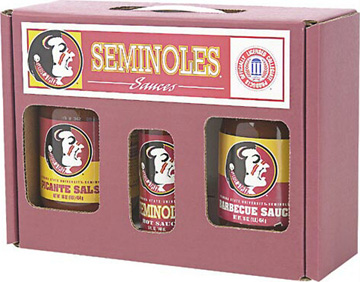 Florida State Seminoles Tailgate Party Pack - Hot Sauce, Salsa, and BBQ Sauce