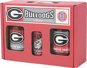Georgia Bulldogs Tailgate Party Pack - Hot Sauce, Salsa, and BBQ Sauce
