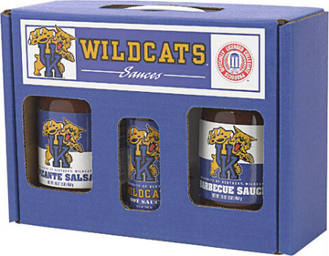 Kentucky Wildcats Tailgate Party Pack - Hot Sauce, Salsa, and BBQ Sauce